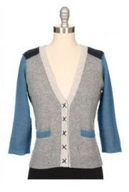 Color block cardigan by Autumn Cashmere at Ron Herman