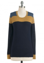 Color block sweater from Modcloth at Modcloth