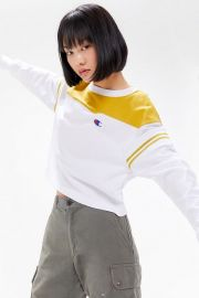 Colorblock Long Sleeve Tee at Urban Outfitters
