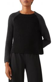 Colorblock Boxy Merino Wool Sweater at Nordstrom