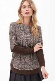 Colorblock Cable Knit Sweater at Forever 21
