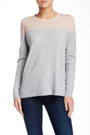 Colorblock Cashmere Crew Sweater at Nordstrom Rack