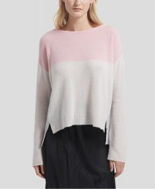 Colorblock Cashmere Sweater at ATM Collection