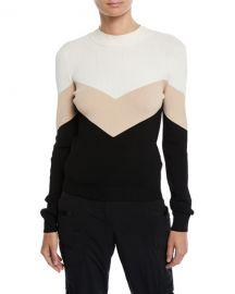 Colorblock Chevron Tie-Back Sweater at Bergdorf Goodman