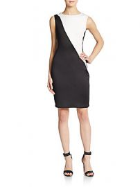 Colorblock Scuba Dress at Saks Off 5th