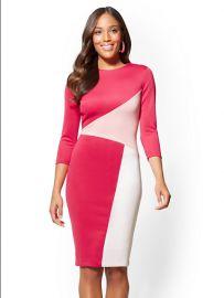 Colorblock Sheath Dress at NY&C