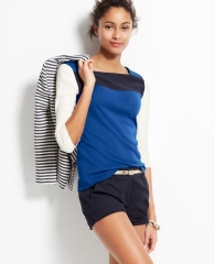 Colorblock Square Neck Top at Ann Taylor