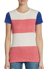 Colorblock Stripe Tee by French Connection at Saks Off 5th