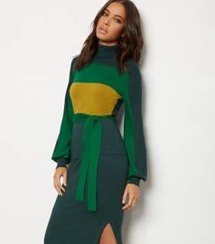 Colorblock Turtleneck Sweater - 7th Avenue  at NY&C
