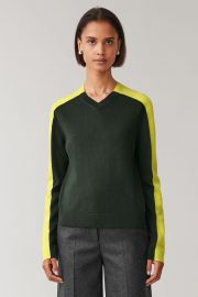 Colorblock Wool Top by Cos at Cos