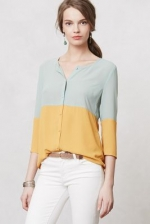 Colorblock blouse by Anthropologie at Anthropologie