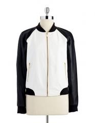 Colorblock bomber jacket at Lord & Taylor