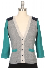Colorblock cardigan by Autumn Cashmere at Ron Herman