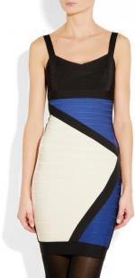 Colorblock dress by Herve Leger at Net A Porter