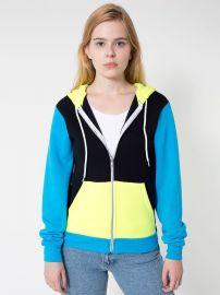 Colorblock hoodie at American Apparel