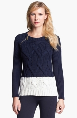 Colorblock knit sweater by Michael Kors at Nordstrom