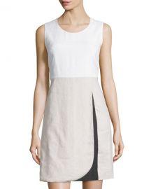 Colorblock linen dress at Last Call