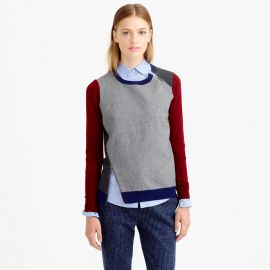 Colorblock sweater at J. Crew