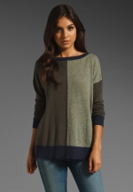 Colorblock sweater by Autumn Cashmere at Revolve