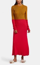 Colorblocked Cotton Sweaterdress by Cedric Charlier at Barneys
