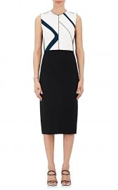 Colorblocked Crepe Sheath Dress Narciso Rodriguez at Barneys