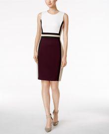 Colorblocked Sheath Dress at Macys