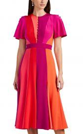Colorblocked Silk Midi-Dress at Barneys