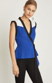 Colorblocked Wrap Top at Bcbgmaxazria