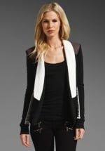 Colorblocked blazer on Happy Endings at Revolve