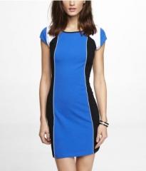Colorblocked dress at Express