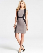 Colorblocked tweed sheath dress at Ann Taylor