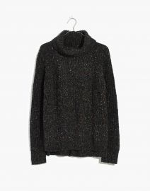 Colorfleck Ribbed Turtleneck Sweater at Madewell