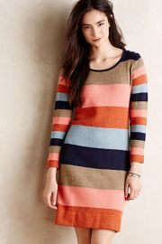 Colorstack Sweater Dress at Anthropologie