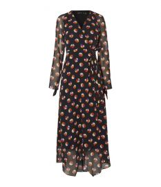 Colour-Pop Wrap Midi Dress at Karen Millen