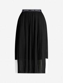 Colour-block pleated crepe skirt at Selfridges