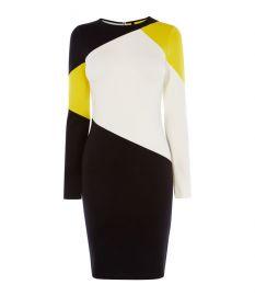 Colourblock Panelled Dress at Karen Millen