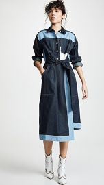 Colovos Belted Two Tone Shirtdress at Shopbop