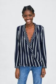 Combined wrap top at Zara