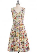 Comic print dress at Modcloth at Modcloth