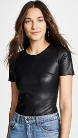 Commando Faux Leather Tee Bodysuit at Shopbop