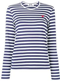 Comme Des Gar  231 ons Play Stripe Print  Jersey - Farfetch at Farfetch