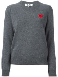 Comme Des Gar  ons Play Embroidered Heart Sweater - Farfetch at Farfetch