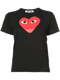Comme Des Gar  ons Play Heart Print T-shirt - Farfetch at Farfetch
