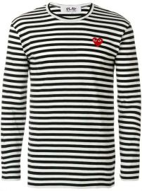Comme Des Gar  ons Play Round Neck Striped Jumper - Farfetch at Farfetch