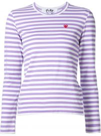 Comme Des Garcons Play Mini Heart Striped T-Shirt  at Farfetch