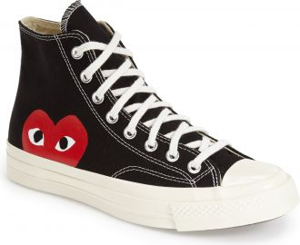 Comme des Gar  ons PLAY  x Converse Chuck Taylor   Hidden Heart High Top  Sneaker  Men    Nordstrom at Nordstrom