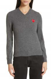 Comme des Gar  ons PLAY Heart Wool Pullover   Nordstrom at Nordstrom