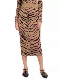 Compact Stretch-Wool Tiger Knit Skirt at Saks Fifth Avenue