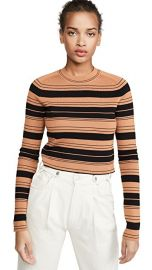 Compact Stripe Cropped Pullover at Shopbop