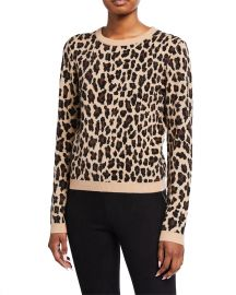 Connie Embellished Leopard Sweater by Alice  Olivia at Neiman Marcus